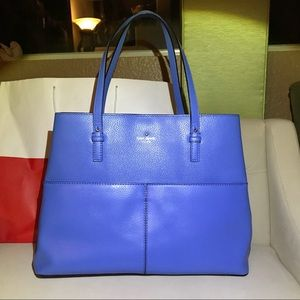 Kate Spade large electric blue leather bag